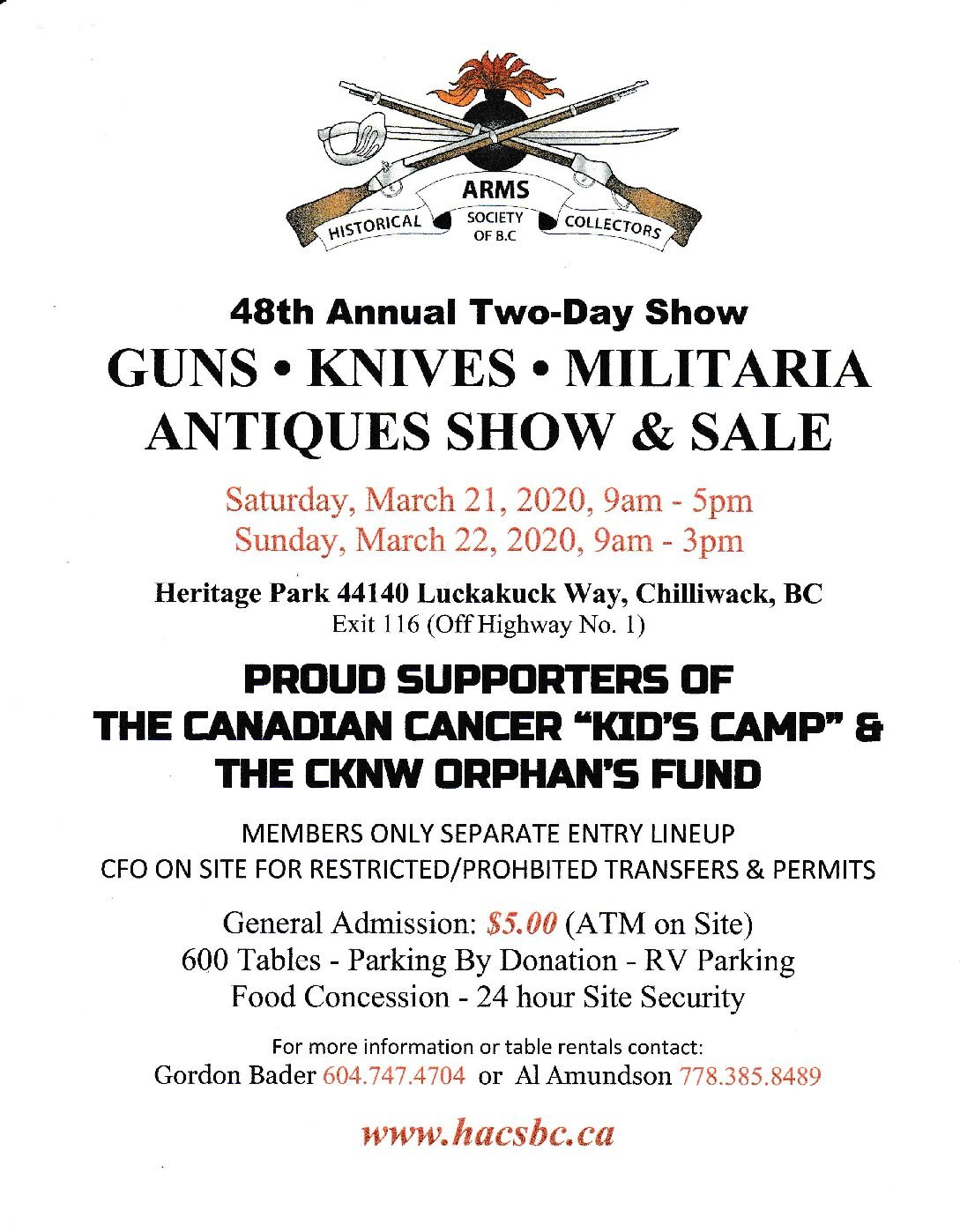 Rv Trader Bc >> Chilliwack Gun, Knife, Militaria Antiques Show & Sale
