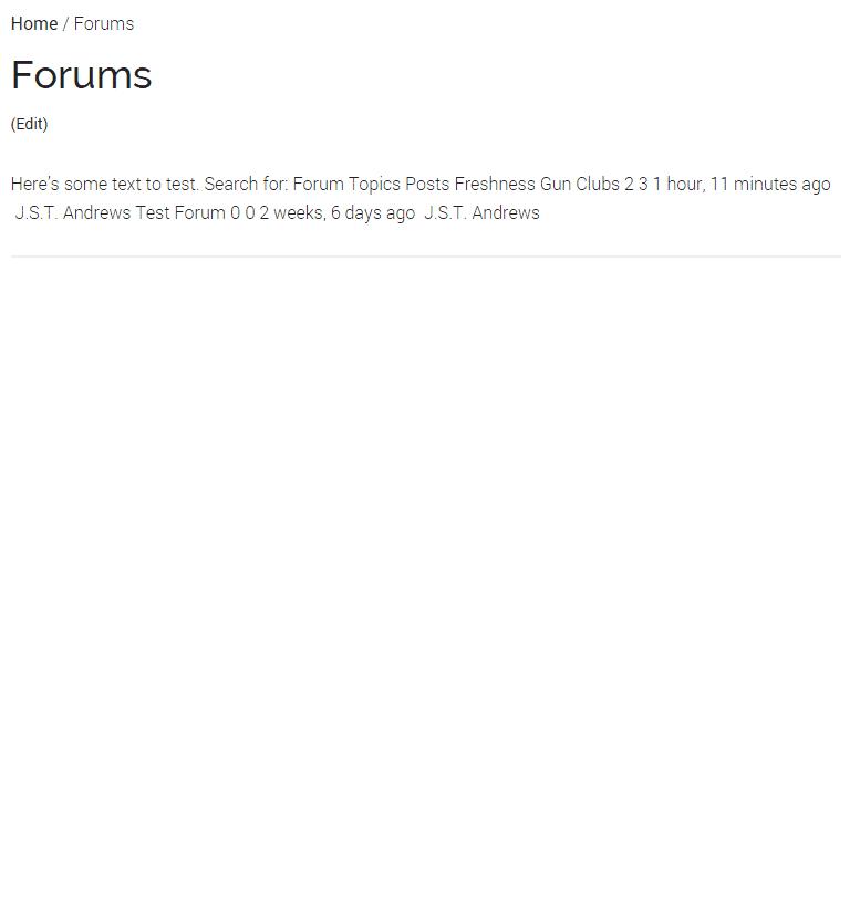 Forum Index Page