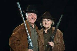 Happy Couple with Rifles
